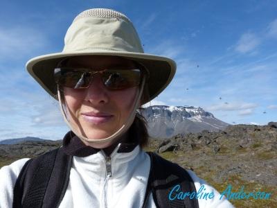 En voyage en Islande, nous étions assaillis par les mouches noires (voir autour de ma tête)